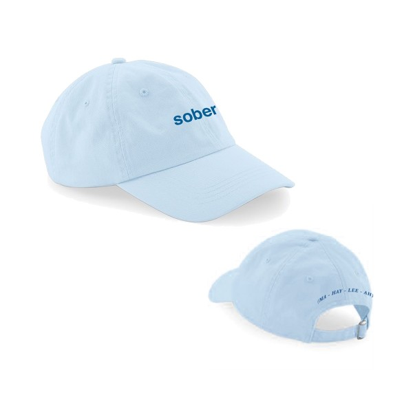 Sober Embroidered Cap Blue