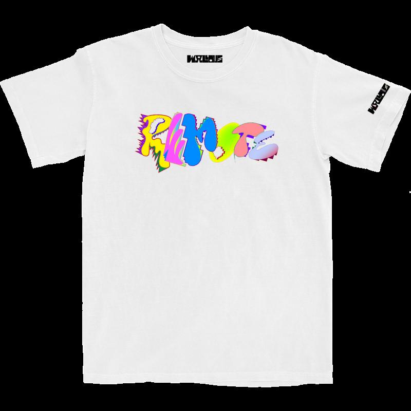 Remote Logo White T-Shirt