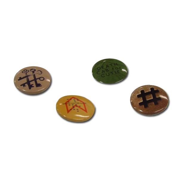 Codes and Keys 4 Badge Set