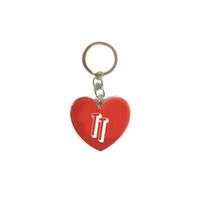 TT Logo Heart Enamel Keyring