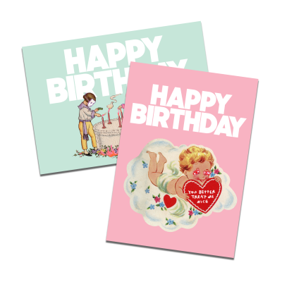 Birthday Card Set of 4