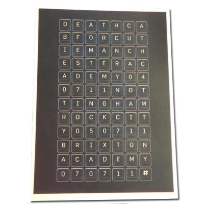 UK Keyboard Lithograph