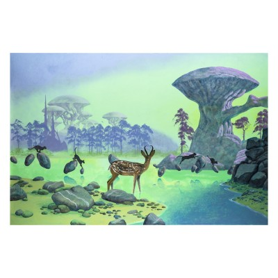 """Roger Dean """"The Crossing"""" Signed Print"""
